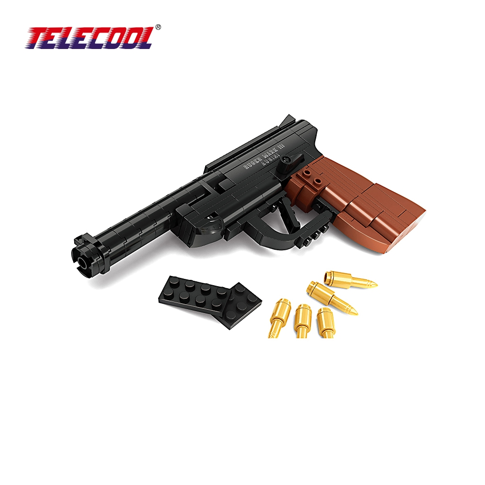 TELECOOL Gun Mauser Pistol Model Toys Building Blocks Sets Educational DIY Assemblage Bricks For Kids Classic Toy 118 pieces