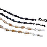 20PCS Oval Shell Beads with round acrylic beads Eyewear Sunglasses Reading Glass Neck Strap Holder Cord Sun Glasses Strap Cord