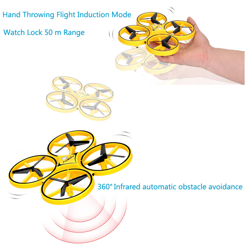 Image 2 - 2019 New Product Body Sensing Watch Induction Aircraft Gesture Control Unmanned Aerial Vehicle Sensing Four axis Aircraft-in Drone Accessories Kits from Consumer Electronics