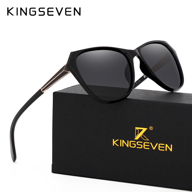 Fashion Women Cat Eye Sunglasses Classic Brand Designer polarized Sun glasses Women Coating Mirror gafas de sol goggles 7080