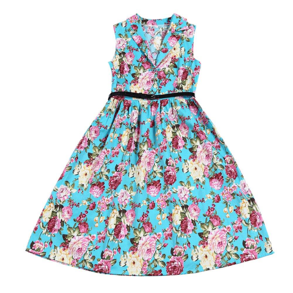 ZAFUL Women Retro Dress Audrey Hepburn Floral 50s 60s Rockabilly ...