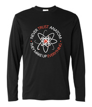 Men funny letters print t shirt Never Trust an Atom they Make Up Everything fashion Science long sleeve harajuku Tee shirt homme