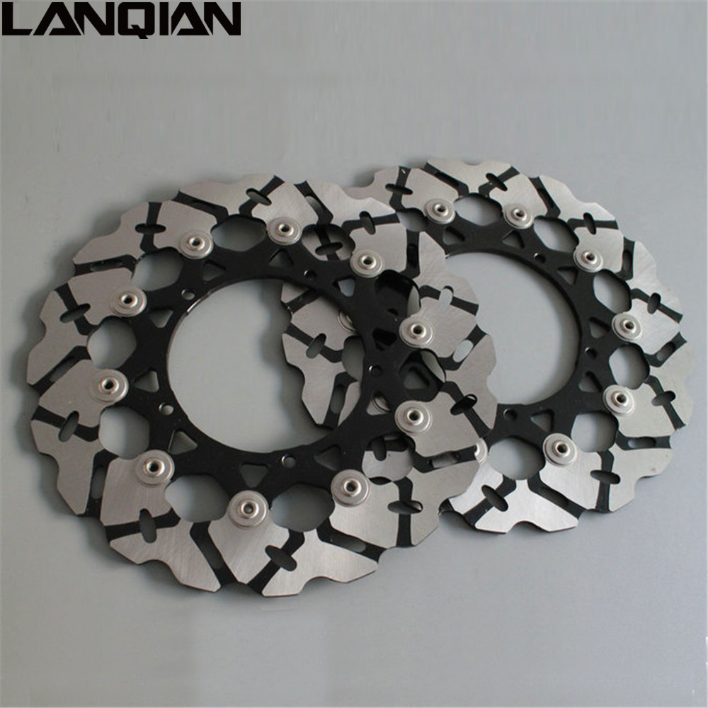 2PCS Motorcycle accessories Front Floating Brake Disc Rotor For YAMAHA YZF R1 2007 - 2012 YZF R6 2007- 2013 2008 2009 2010 2011 mfs motor motorcycle part front rear brake discs rotor for yamaha yzf r6 2003 2004 2005 yzfr6 03 04 05 gold