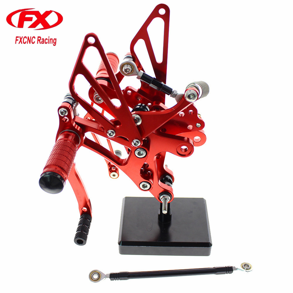 For YAMAHA YZF R1 2004 2005 2006 CNC Aluminum Adjustable Motorcycle Rearsets Rear Set Foot Pegs Pedal Footrest Foot Rests
