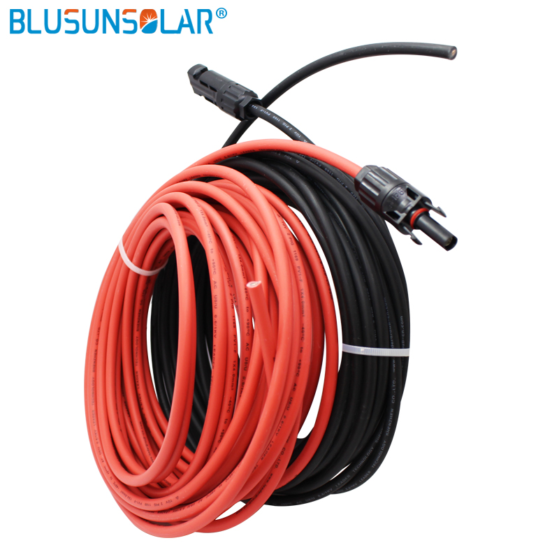 2 Pec/lot Solar Panel Cable PV Wire Black+red MC4 10m Extension 4mm2 Cable With Male And Female Solar Connector Cable Harness
