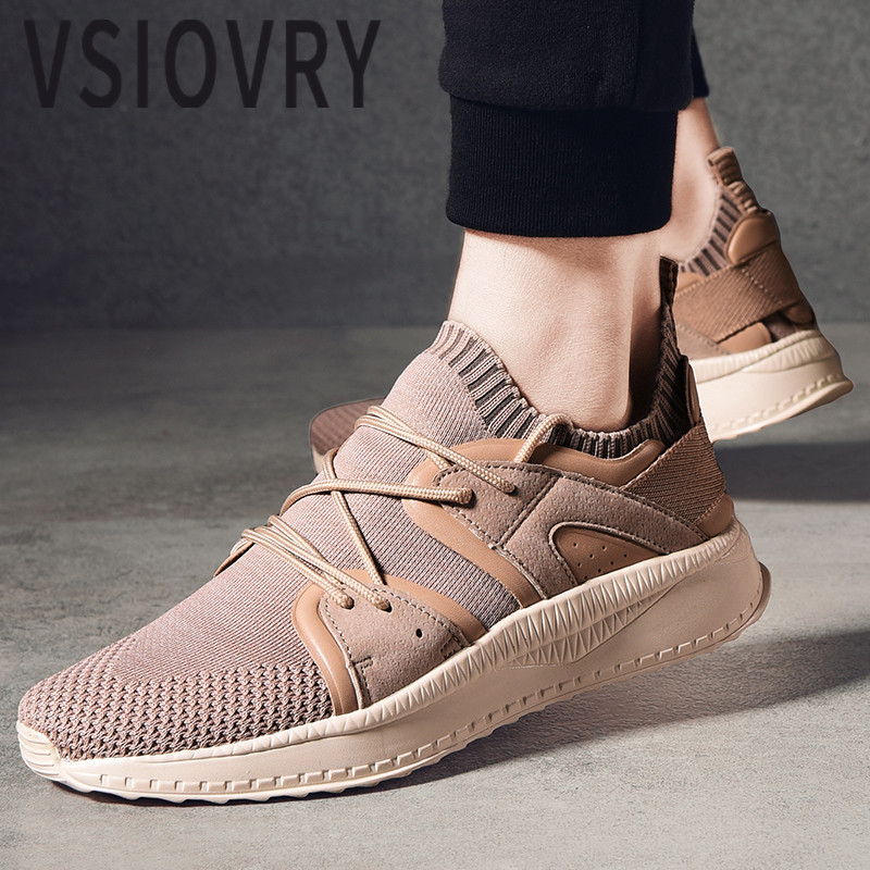 VSIOVRY Summer Men Sneakers 2018 Breathable Casual Flats Shoes Elastic Knit Trainers Krasovki Spring Outdoor Sneakers For Male 1 9 metal alloy wheel hubs 1 9 inch beadlock wheel rims for 1 10 rc crawler scx10 90022 90027 90046 90047 cc01 trx4 tf2