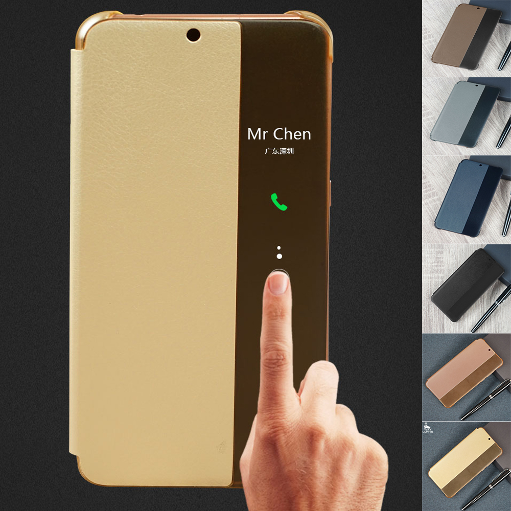 Smart Flip Case For Huawei P20 Cover P 20 Luxury Leather Pro View for Plus P20+