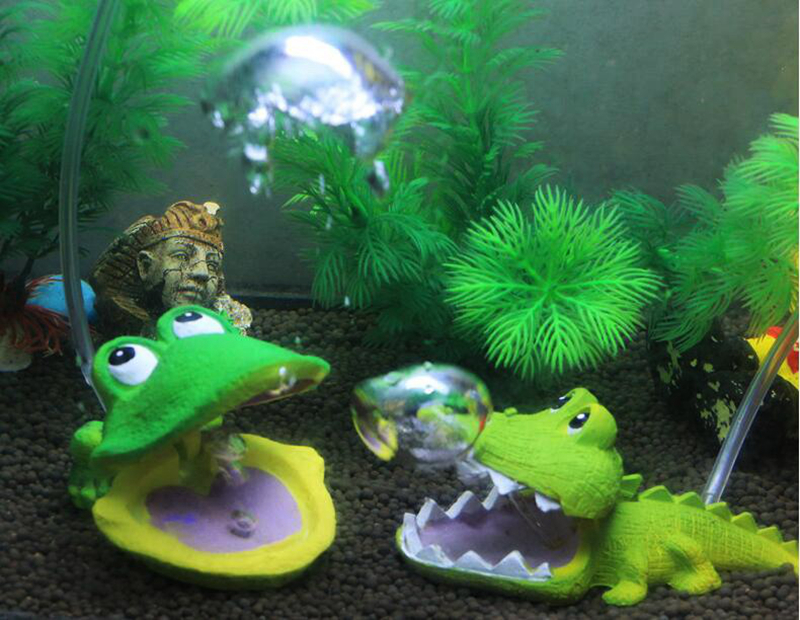Buy fish tank decoration bubble frog for Toy fish tank
