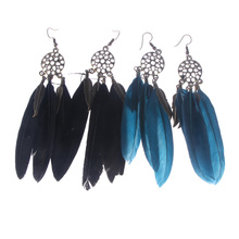 1 Pair Women Bohemia Lady's Indian Dream Catcher Hollow out Vintage Leaf Feather Dangle Earrings christmas gift jewelry все цены