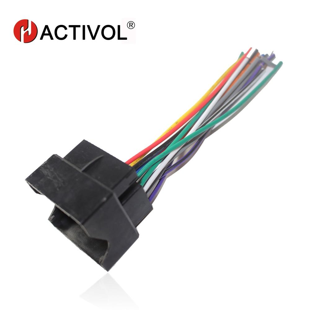 Car Radio Stereo Female Iso Plug Power Adapter Wiring