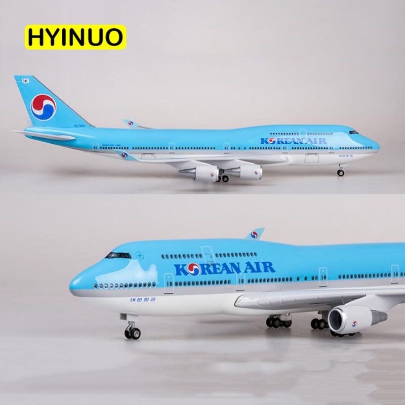 1/150 Scale 47CM Airplane Boeing B747 Aircraft Korean International Airline Model W Light and Wheel Diecast Plastic Resin Plane-in Diecasts & Toy Vehicles from Toys & Hobbies    3