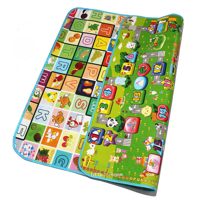 1.0cm thicknss Double Side Fruit Letters+Zillionaire Baby Play Mats Infant Crawling Carpets Gym Rugs Toddler Picnic Mats