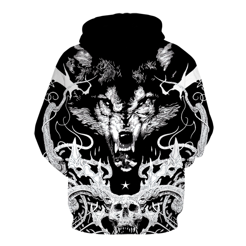 29938f91df25 Plus Size Wolf Hoodies 3d Print Animal Wolf Men's Hoody Sweatshirt  Alisister Hip Hop Unisex Pullover With Big Pockets Tops   CoolTogs