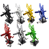 For Suzuki GSX1300R HAYABUSA 1999 2012 Motorcycle Foot Rest Rearset Footpegs Footrest Foot Pegs Pads Pedals Motorbike Rear Set