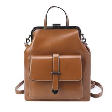 High Quality Retro Hasp Back Pack Bags PU Leather Backpack Women School Bags for Teenagers Girls Luxury Small Backpacks 2019 New цена 2017