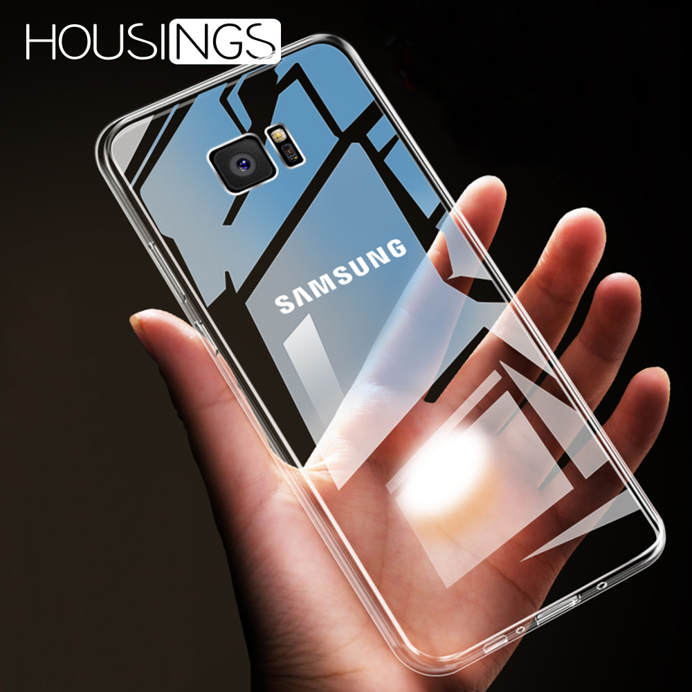 Ultra-thin Transparent Silicone <font><b>Case</b></font> For <font><b>Samsung</b></font> <font><b>Galaxy</b></font> S8 S9 S10 Plus TPU Shockproof TPU Cover For <font><b>Samsung</b></font> A20 A30 A40 A50 A60 image
