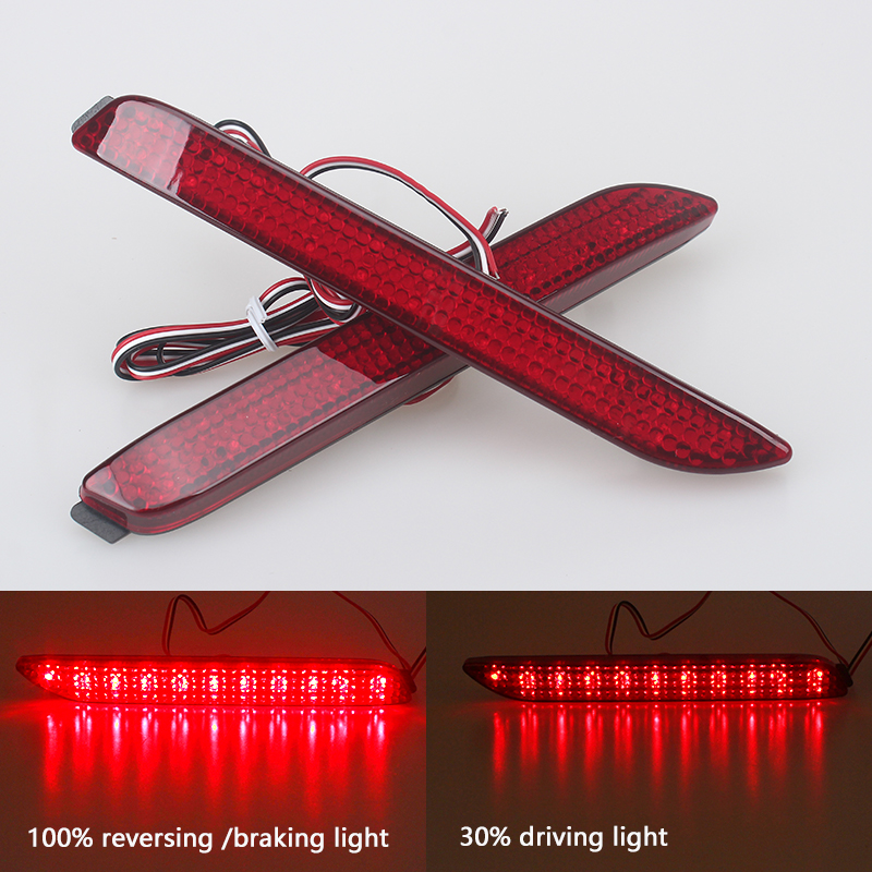 Car LED Rear Bumper Reflector Lamp for Toyota Camry/Innova/Lexus ISF/GX470/RX300 Red Fog Stop Lights Tail Light Parking Brake