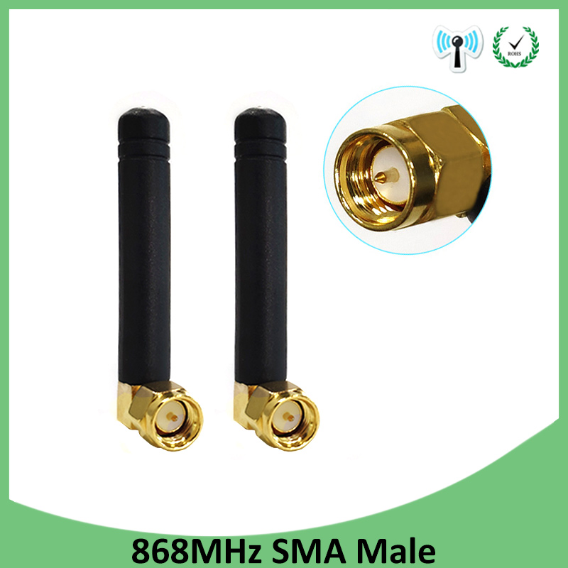 20pcs 868MHz 915MHz Antenna 3dbi SMA Male Connector GSM 915 MHz 868 MHz antena outdoor signal