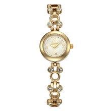 Disney pulseiras relógios das mulheres de quartzo relógios de luxo de prata de ouro diamante 30 m à prova d' água senhoras relógio de pulso caixa original MK-11128