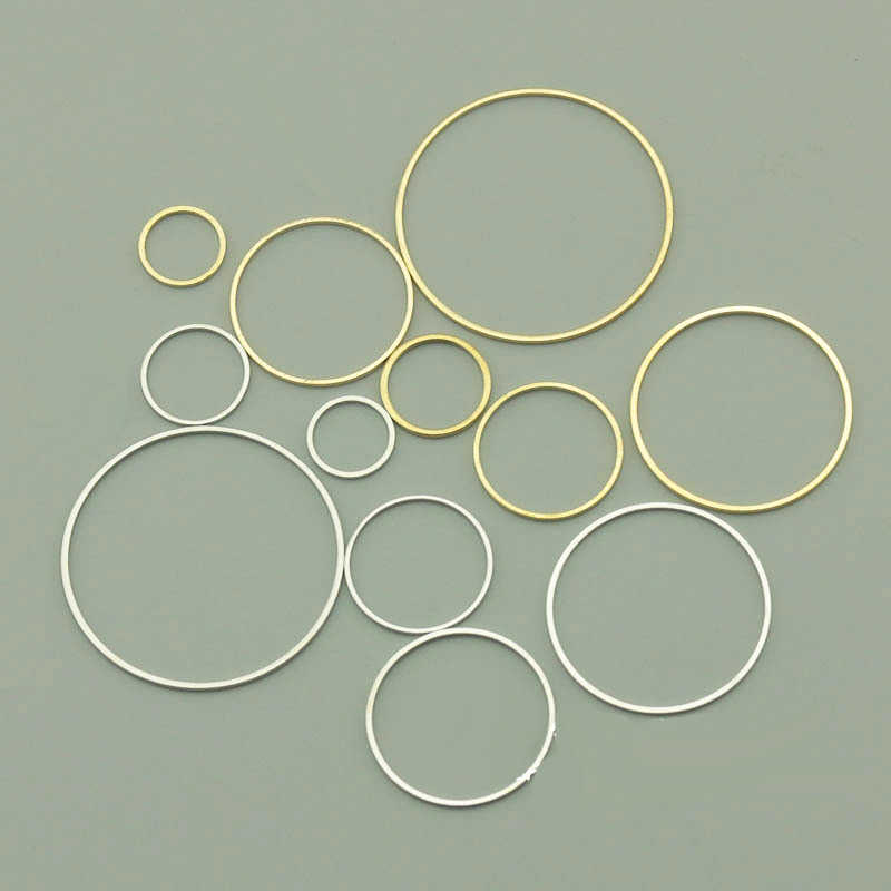 10Pcs/Bag Copper (NOT IRON) Big Link Circle Round DIY Hoop Earrings Base For Jewelry Making Finding DIY  Earrings Connector