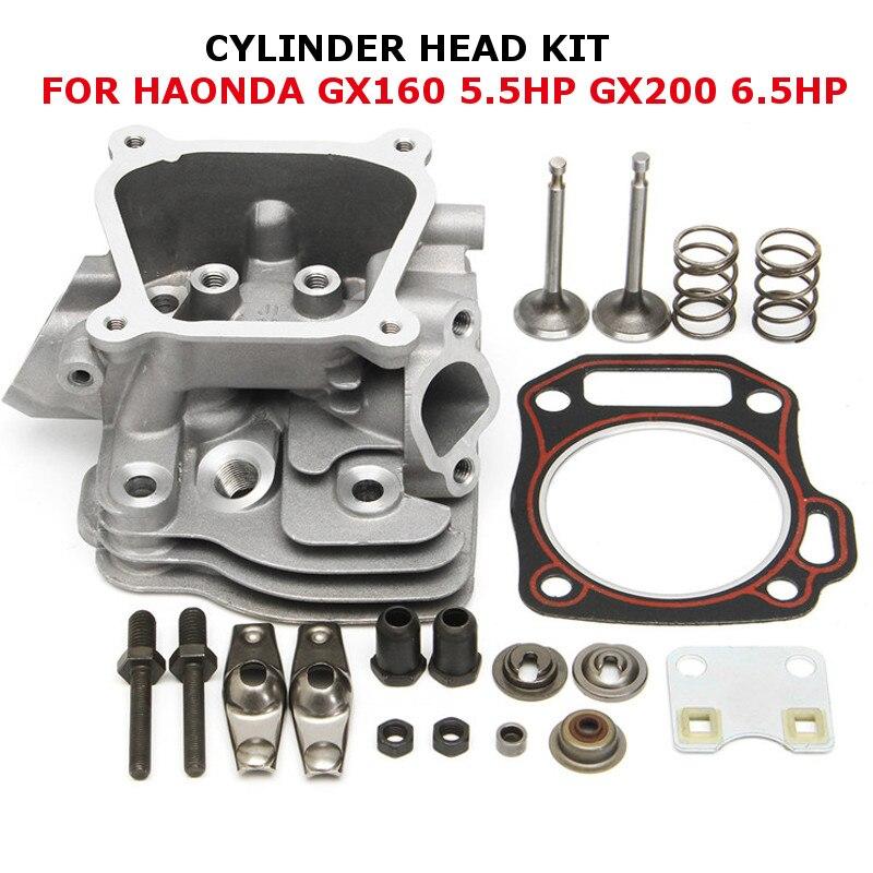 Meilleur prix Cylindre Tête D'admission Soupape D'échappement Joint Kit Pour Honda GX160 5.5HP GX200 6.5HP 12210-ZL0-405