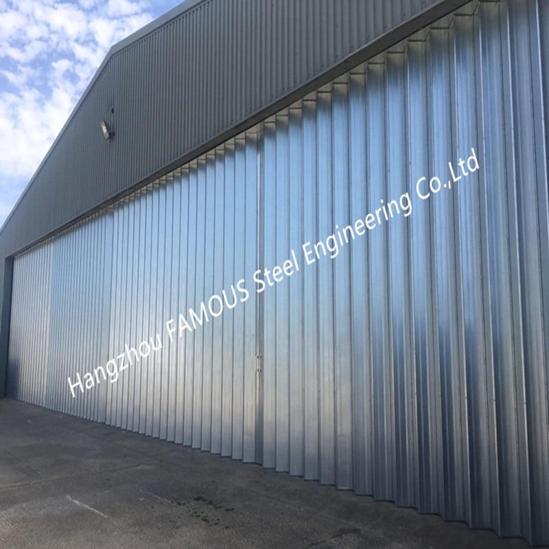 Stable Triangular Seal Vertical Hinged Doors Sectional Leaves Folding Sliding Hangar Doors