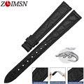 ZLIMSN мужские часы из натуральной крокодиловой кожи ремешок для часов 14-24 мм подходит для OMEGA Longines ремень женские часы браслет браслеты