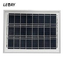 LEORY 12V 5W Solar Panels DIY Polycrystalline Solar Cells Module Charger For 12V Battery Charging