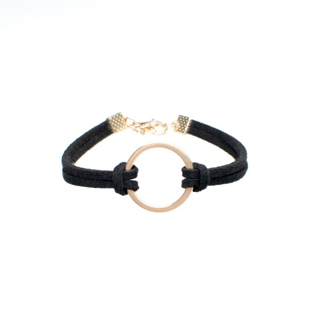 1 Piece Lot Karma Circle Plain Leather Bracelet