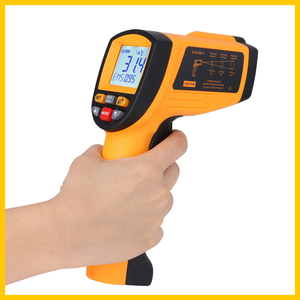 Image 4 - GM1150 Non Contact 12:1 LCD display IR Infrared Digital Temperature Gun Thermometer  30~1150C ( 58~2102F) 0.1~1.00 adjustable