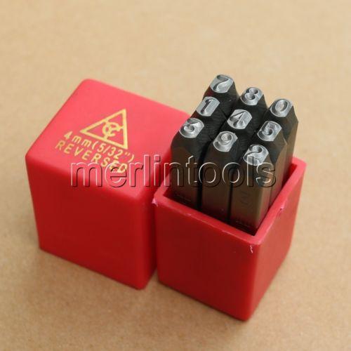 Ensemble de matrices de poinçon en acier à numéro de 9 PC inversé sélectionnez la taille