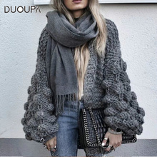 DUOUPA 2019 new fashion cardigan womens spring long-sleeved knit sweater winter 2018 solid color shirt