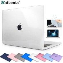 Прозрачный жесткий прорезиненный чехол для ноутбука и чехол для клавиатуры для MacBook Pro Air 11 12 13 Pro 13 15 Retina Touch Bar ID 2019