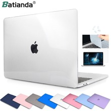 Crystal Vorst Clear Hard Rubberen Laptop Case + Keyboard Cover Voor Macbook Pro Air 11 12 13 Pro 13 15 retina Touch Bar Id 2019
