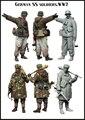 SOLDADOS de las SS ALEMANAS WW2 1/35 Resina Modelo Kit Envío Gratis