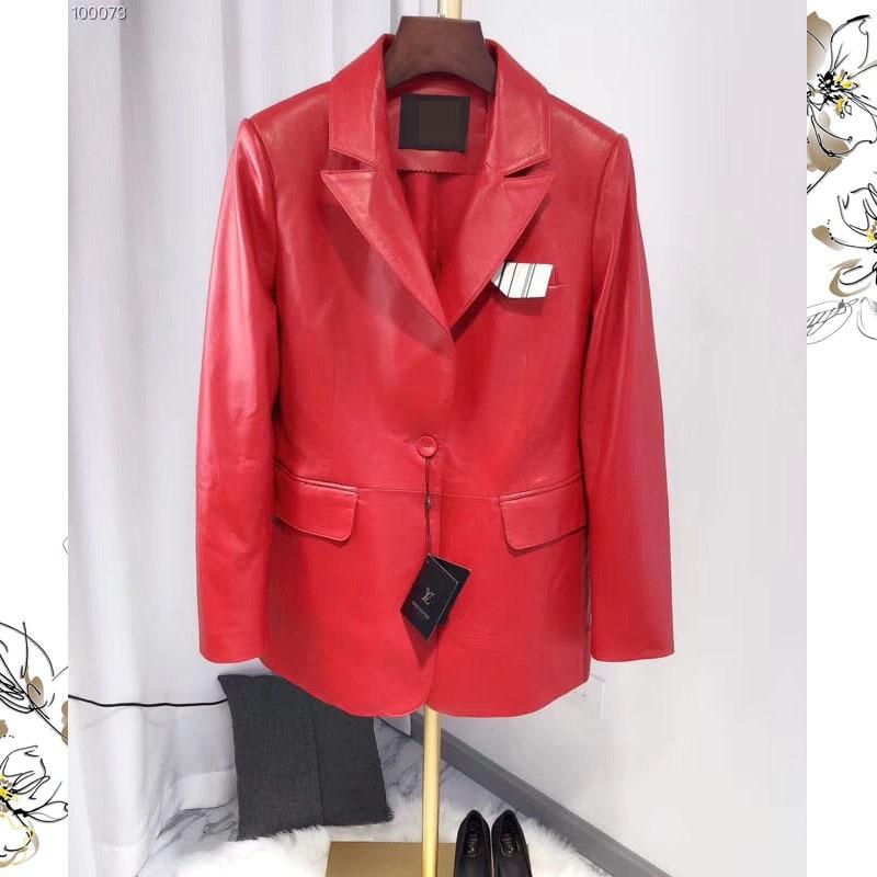 Réel Agneau Black P4255 2018 Nouvelle En Bonne Naturel Vêtements Vestes Mode Ptslan Qualité Véritable red Cuir R0zWBn