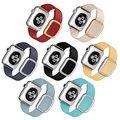 Original moderna hebilla banda para apple watch correa de cuero con cierre magnético de acero inoxidable granada suave para apple iwatch
