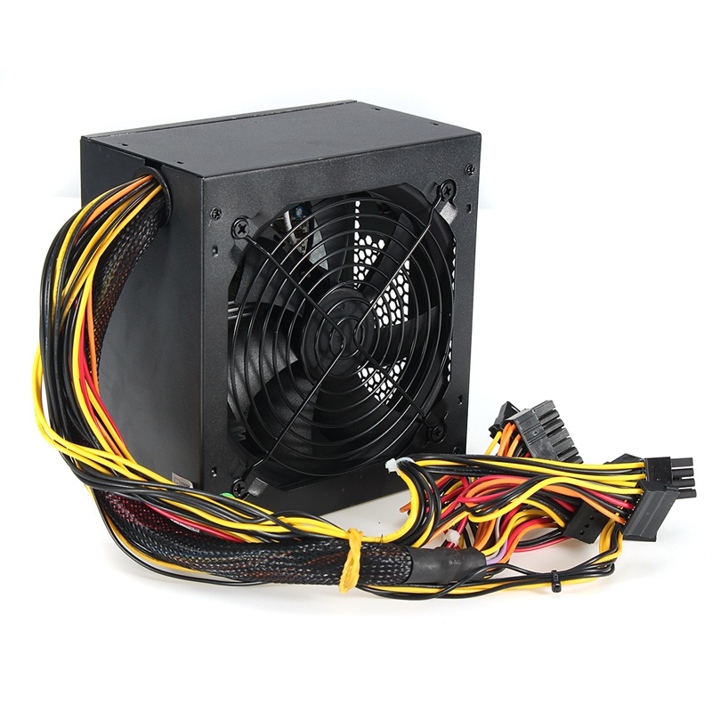 600W PC PSU Power Supply Black Gaming Quiet 120mm Fan 20/24pin 12V ATX New computer Power Supply For BTC atx 80plus efficiency 500w power gold power 12v sata port connectors 12cm fan high quality computer power supply for btc