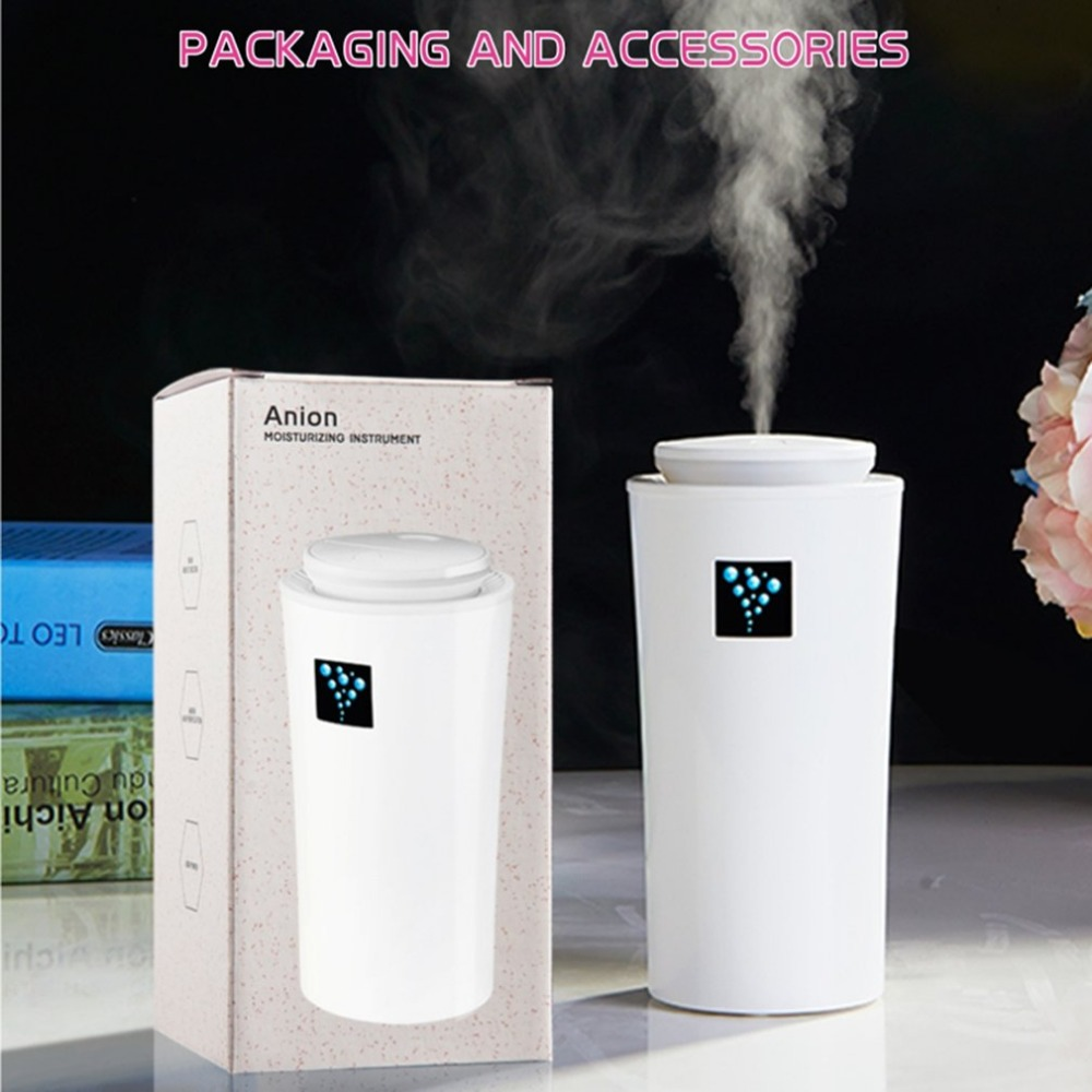 Portable Home Car Air Humidifier 260ML Aroma Diffuser Skin Moisturizing Device USB Powered Air Fresher With LED Night Light