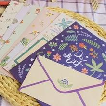 Kawaii 1 set=(4 sheet letter paper+2 pcs envelopes) Finely flower animal Letter pad Set/set writing paper Office&School Supplie