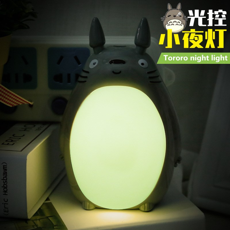 Kawaii Cartoon My Neighbor Totoro with plug Lamp Led Night Light USB Reading Table Desk Lamps for Kids Gift Home Decor Novelty novelty 3d full moon lamp led night light usb rechargeable color changing desk table light home decor 8 10 12 15 18 20cm