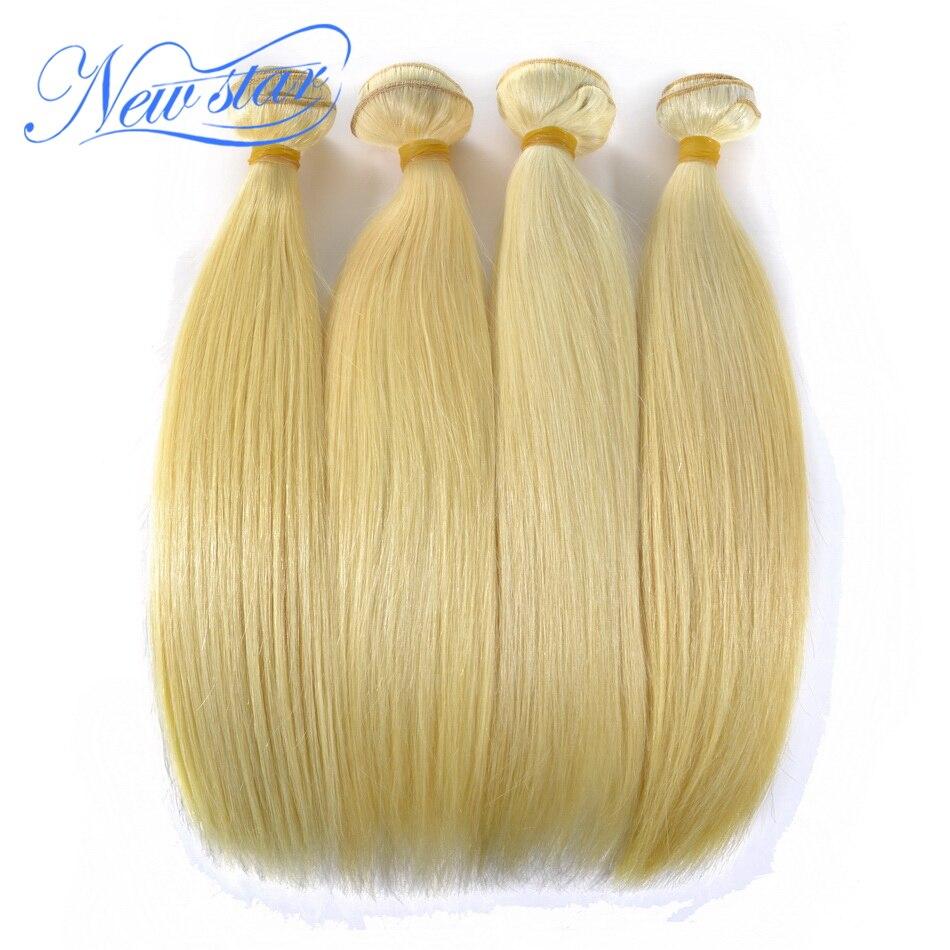 Nova Estrela Loira Cabelo Brasileiro #613 Em Linha Reta Remy Extensões de Cabelo Weave 4 Bundles 10'-30'Inch Humano Longo de 100% Tecelagem do cabelo
