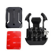 Mount Helmet Curved Surfac + 3M Sticker + Buckle Basic Curved Mounts for Gopro Hero 4 3+ 2 1 SJ4000 SJ5000 Xiaomi Yi XR649(China)