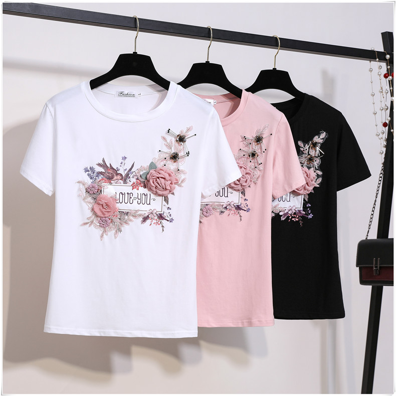 3D Flowers Stylish T Shirts 2