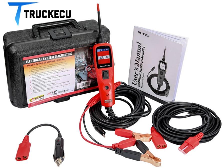 Autel PowerScan PS100 système électrique outil de diagnostic voiture automobile OBD2 Scanner testeur de Circuit système électrique lecteur de Code