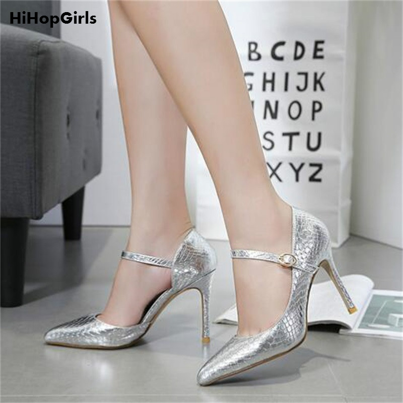 HiHopGirls 2017 Hot New Sexy Female zapatos mujer Spring women stiletto Pumps party Pointed toe Snakeskin high heels shoes woman 2017 new spring summer shoes for women high heeled wedding pointed toe fashion women s pumps ladies zapatos mujer high heels 9cm