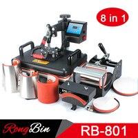 Good Quality 8 In 1 Combo Heat Press Machine Sublimation Printer Heat Transfer Machine Free Shipping
