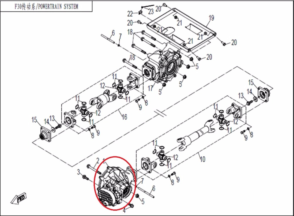 1pcs front differential and 4pcs front shaft axle suit for uforce Electric Motorcycle Engine  Polaris Diesel ATV Engine Parts Polaris Rebuilt ATV Engines Golf Cart Engines