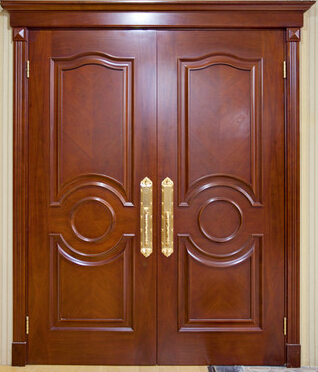 Delightful Alibaba China Home Front Main Safety Wooden Door Design