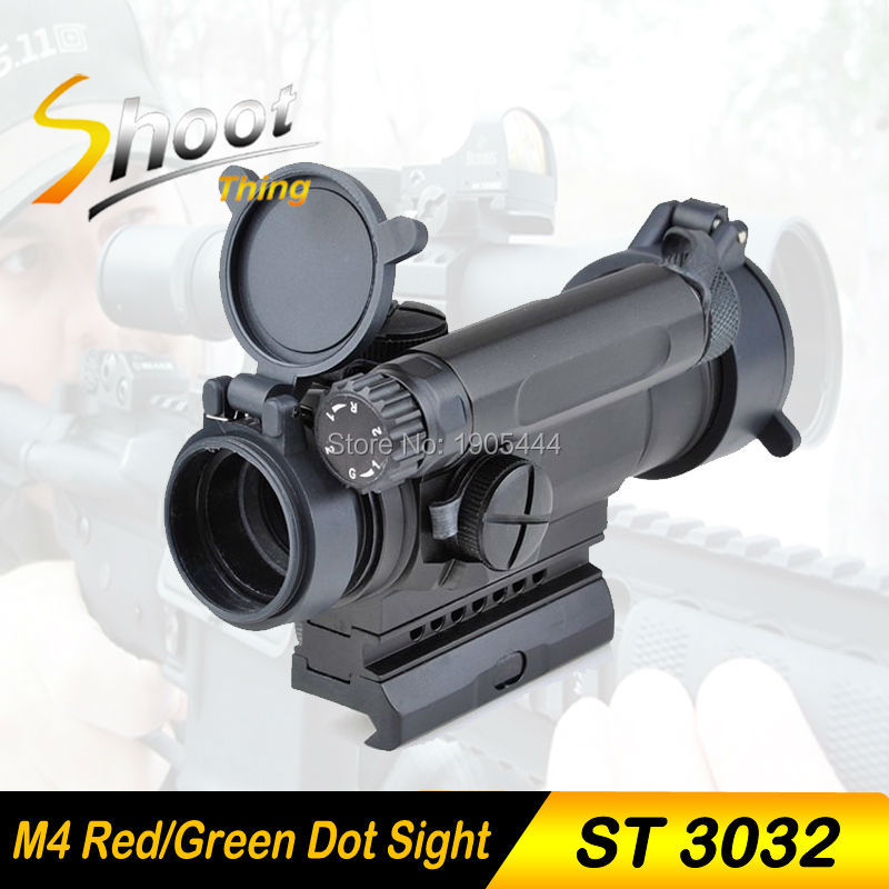 ST3032 Shoot Thing Red Dot Sight Optics Scope Tactical M4 Riflescope For hunting shooting tactical m4 1x40 red dot sight scope all aluminum alloy cnc hunting shooting r5565